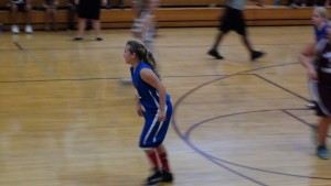 Brooke running the floor against Gamble Rodgers Middle School.